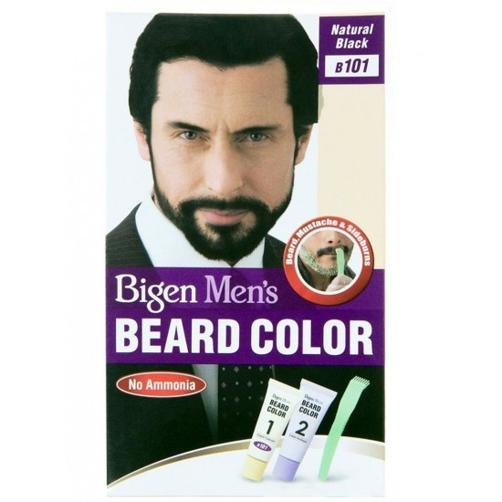 Bigen Mens Beard Colour , B101 Natural Black , No Ammonia