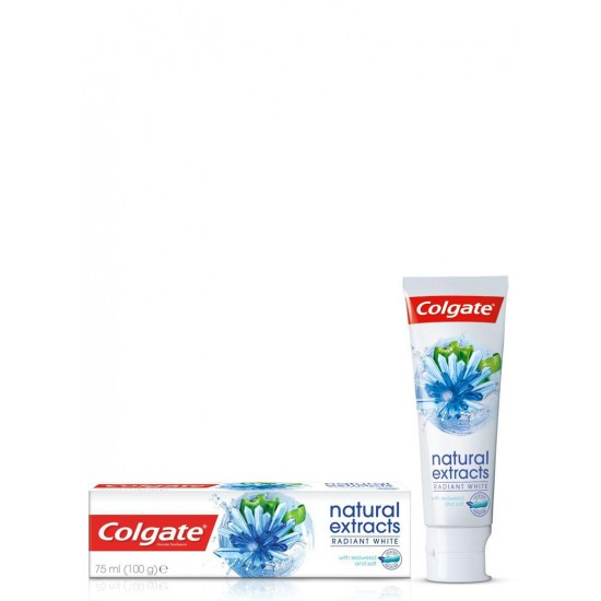 COLGATE NATURAL EXTRACTS RADIANT WHITE WITH SEAWEED & SALT TOOTHPASTE 75 ML