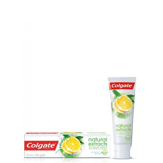 COLGATE NATURAL EXTRACTS ULTIMATE FRESH WITH LEMON OIL & ALOE TOOTHPASTE 75 ML