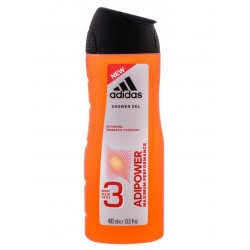 ADIDAS ADIPOWER 3IN1 BODY, HAIR AND FACE SHOWER GEL 400ml