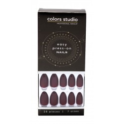 Colors Studio Easy Press On Nails 28 Pcs 7 Sizes NO. CS-NT18