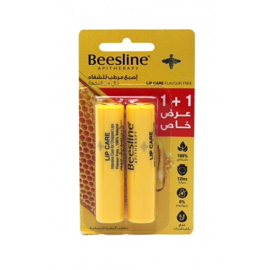Beesline Flavour Free Lip Care 2x4 gm
