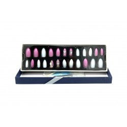 Sticky Nails attractive multi-size easy-to-install adhesive nails BK 19-107 piece 24