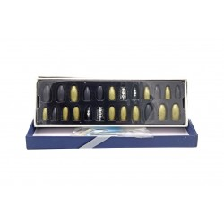 Sticky Nails attractive multi-size easy-to-install adhesive nails BK 19-110 piece 24