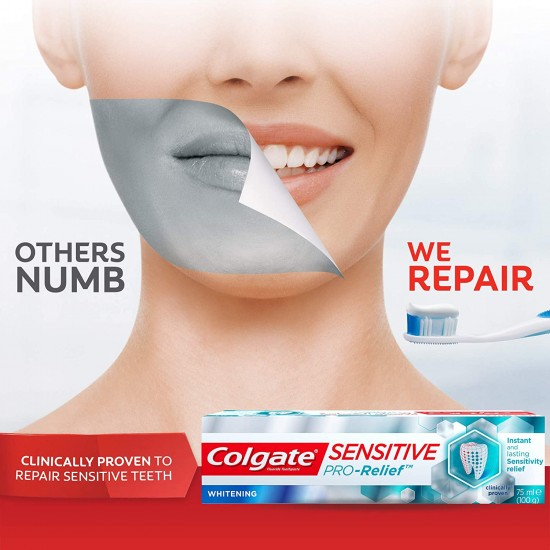 Colgate Toothpaste Pro-Relief Sensitive Whitening 75 ml