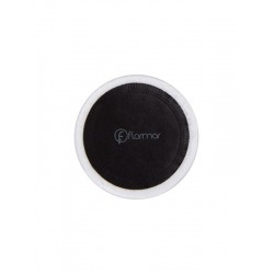 A sponge for applying the powder from Flormar, black and white