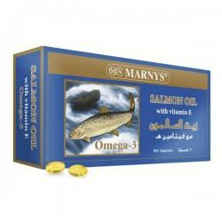 مارنيز زيت السلمون  مصدر طبيعي للأحماض الدهنية 60كبسولة