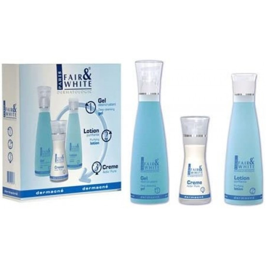 Fair and White Dermacne Kit - Gel, Lotion And Cream, 430 ml