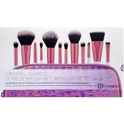 BH Cosmetics Crystal Quartz 12-Piece Makeup Brushes Set