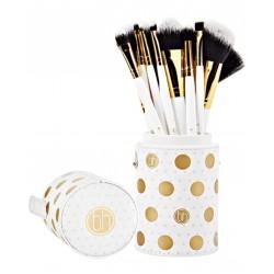 BH Cosmetics White dotted make up brush set 11 brushes