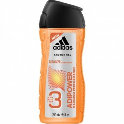 ADIDAS ADIPOWER 3IN1 BODY, HAIR AND FACE SHOWER GEL 250ml