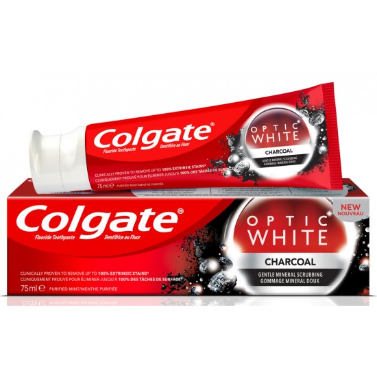 Colgate Optical White Activated Charcoal Whitening Toothpaste 75ml