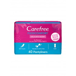Carefree Flexicomfort Delicate Scent 40 Pantyliners