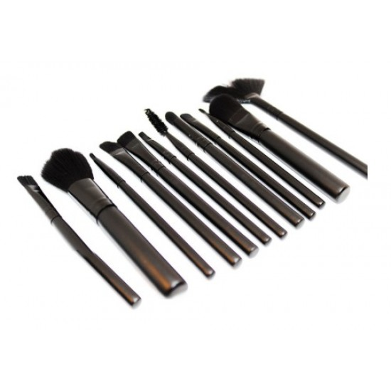 ANASTSIA 12-Piece Makeup Brush Set With Box Black
