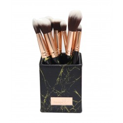 Daroge Signature Rose Gold 10 Piece Makeup Brush Set DG-10W