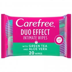 Carefree Daily Intimate Wipes Green Tea & Aloe Vera 20pcs