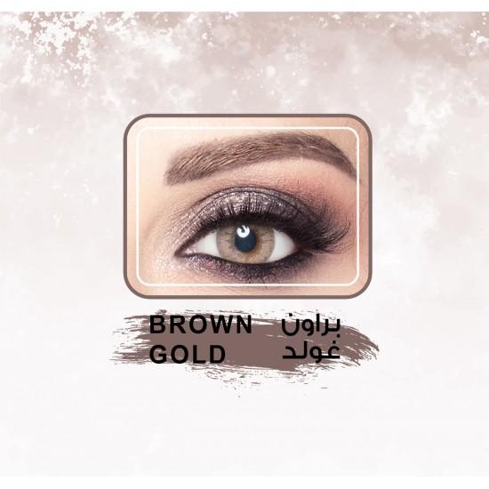 Amara Color Contact Lenses Brown Gold