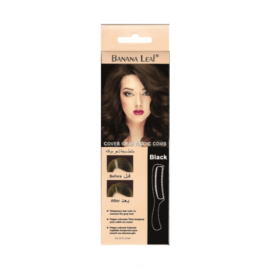 Banana Leaf Cover Gray Magic Comb - Black