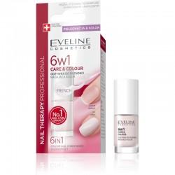 إيفلين علاج الأظافر 6 في 1 عناية وصبغ فرنسي 5 مل