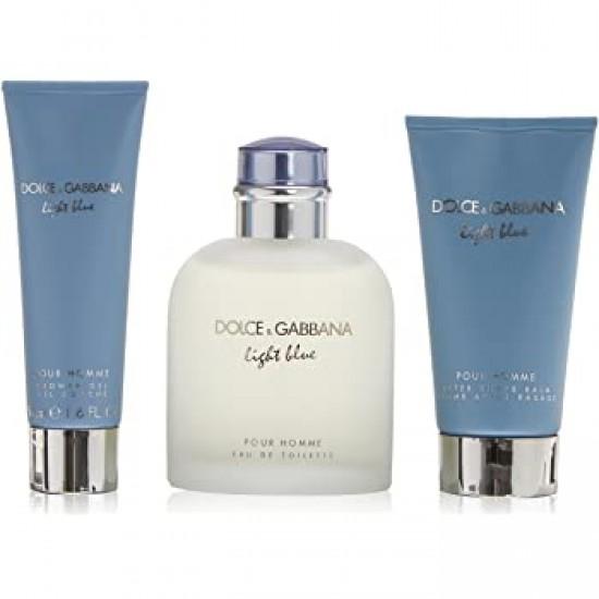 Dolce & Gabbana Light Blue Pour Homme Set for Men 125 ml