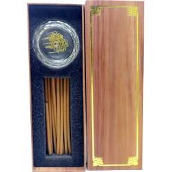 Bosaid Incense Burner - A63 - Incense Burner + Incense Cambodian Oud (12 sticks 10 mm) with Crystal Incense Burner