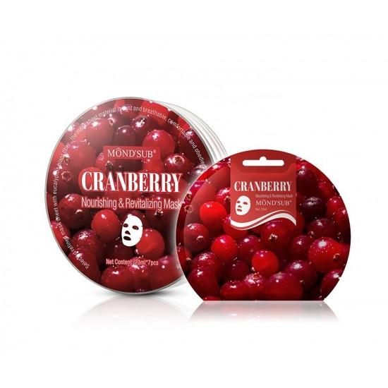 Mond Seb Anti-Aging Cranberry Face Mask With Eucalyptus Fiber 23ml