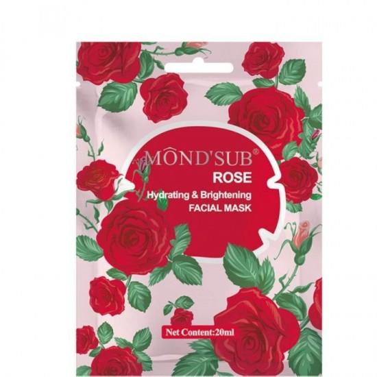 موند سب قناع ترطيب وتفتيح البشرة  بخلاصة الكولاجين العضوية وزيت زهور الورد 12×20مل