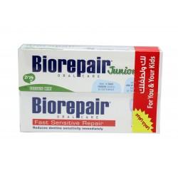 Biorepair Fast Sensitive toothpaste 75 ml + Delicate Mint Toothpate Junior 7-14 Age 75ml