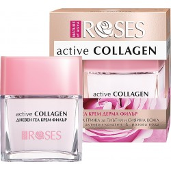 Roses Active Collagen Day Cream Wrinkle Filler Gel with Active Collagen and Rose Water 50ml