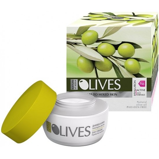 Roses Day Cream For Normal Skin With Olive Oil Anti-Wrinkle 50 ml