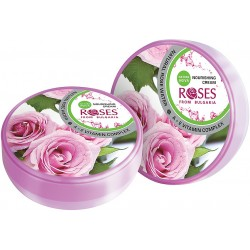 Roses body cream with nourishing rose water and vitamins (A, E) moisturizing 100 ml