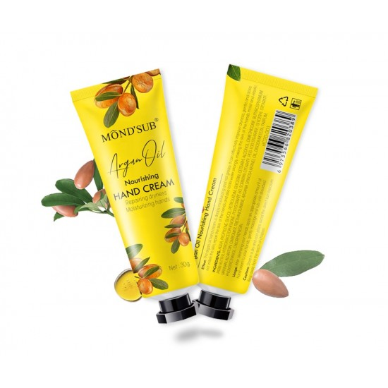 Mond Sub Cream repair dry hands and moisturize them with argan oil 30 g