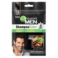 غارنييه شامبو صبغة الشعر للرجال أسود طبيعي 1.0