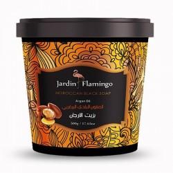Jardin Flamingo Moroccan Black Soap Argan Oil 500 gm