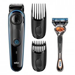Braun BT3040 Beard Trimmer For Men With 2 Combs And Free Gillette Fusion ProGlide Razor