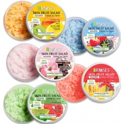 Rose sugar scrub 2 in 1 for body and face with berries and pepper extracts 200 ml